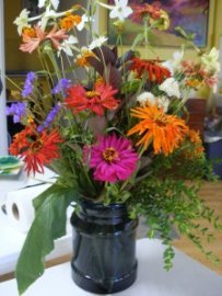 Zinnia and cut garden flowers