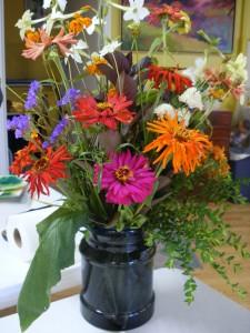 Zinnia and cut garden flowers